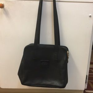 Handbags - Valentina black leather handbag